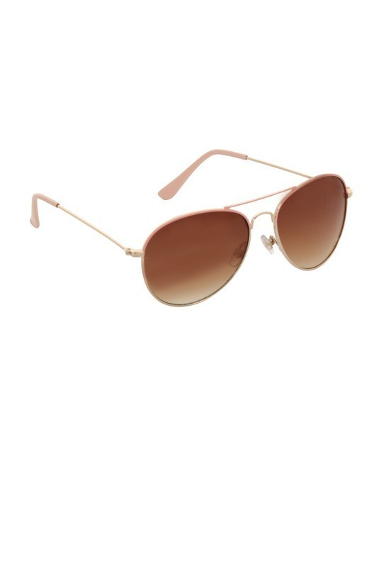 Fresno Pink & Gold Aviator Sunglasses