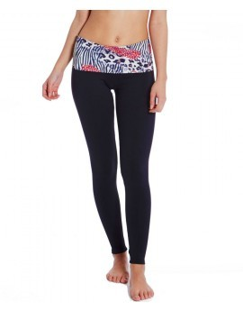 Rylee Black & Animal Print Leggings