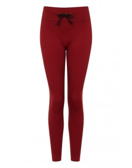 Burgundy Seamless Fitness Leggings
