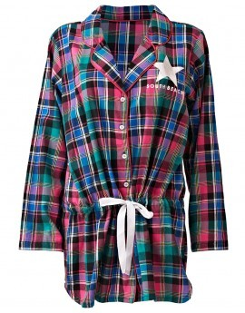 Bella Multicolour Check Flannel Sleep Shirt