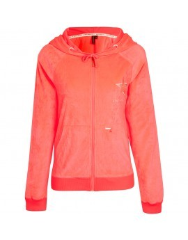 Esme Neon Velour Hooded Top