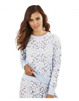 Bo Soft Lace Ice Blue Lounge Top