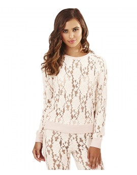 Bo Soft Lace Ice Pink Lounge Top