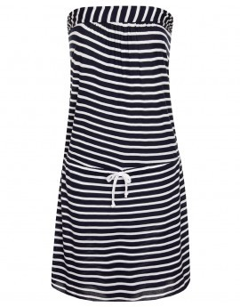 Denise Navy Stripe Bandeau Mini Dress