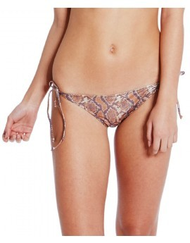 Noelle Bronze Foil Snakeskin Tie Side Brief