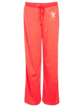 Eliza Neon Velour Wide Leg Pants