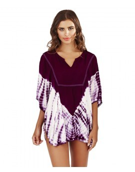 Boutique Purple Tie Dye Batwing Tunic