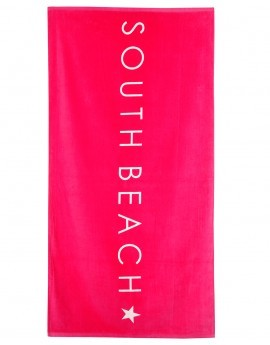 Verity Pink South Beach Logo Beach Towel