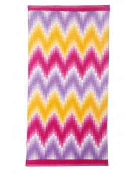 Florence Multi Coloured Chevron Print Beach Towel