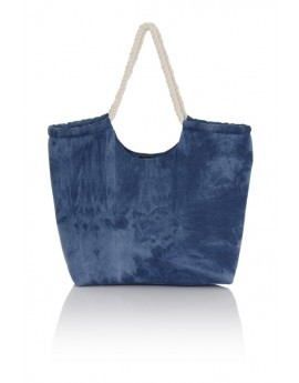 Blue Washed Denim Rope Handle Bag