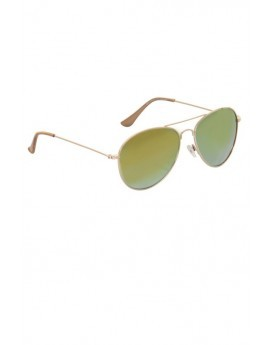 Adelaide Green & Gold Aviator Sunglasses