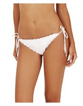 Polly Crochet Tie Side Brief- White