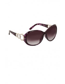 Fremont Purple Oversized Tortoise Shell Sunglasses