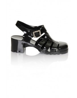 Black Heeled Jelly Shoe
