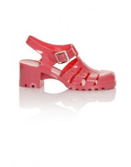 Pink Heeled Jelly Shoe