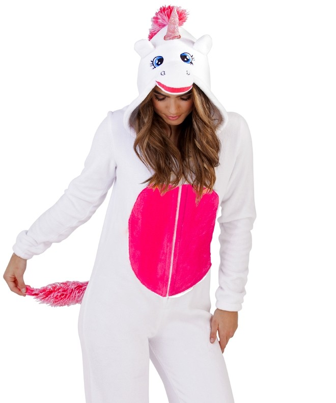 Loungeable White 3D Novelty Unicorn Onesie  823814d4f