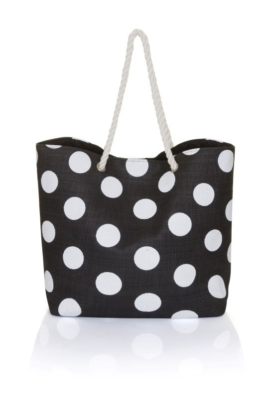 Black Tote with White Spots