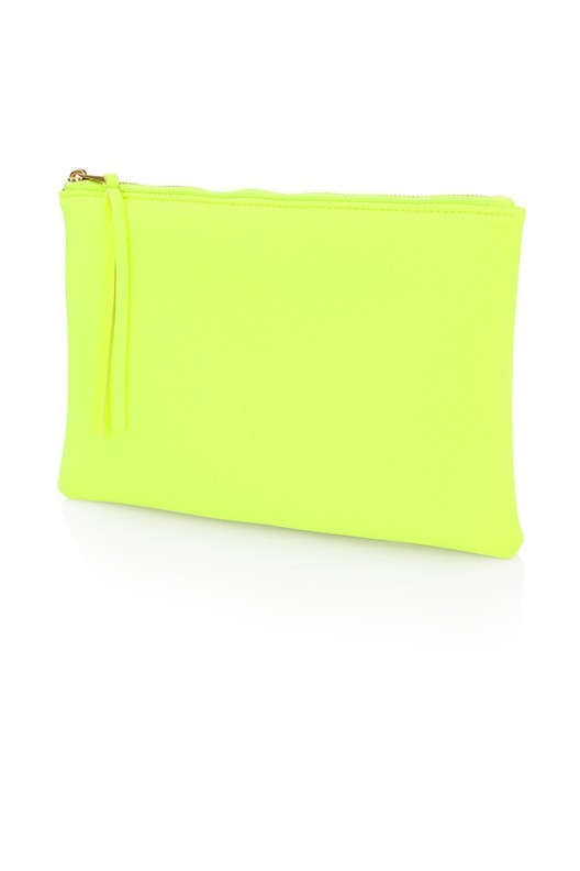 Neon Yellow Clutch