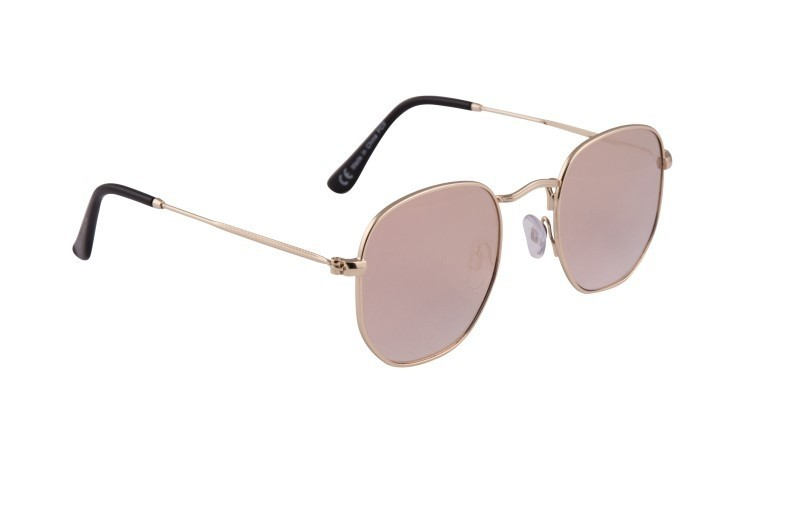 Rose Pink Rounded Sunglasses