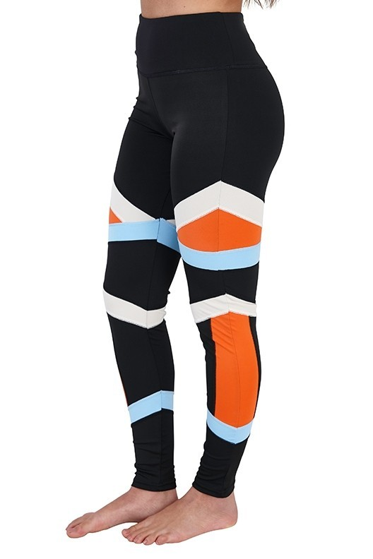 Colourblock Bandage Fitness Leggings