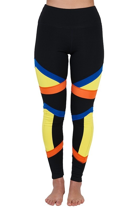 Colourblock 3 Panel Sports Leggings