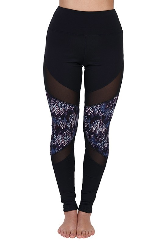 Indigo Animal Print Leggings