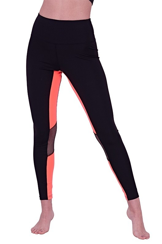 Black Contrast Pink Leggings