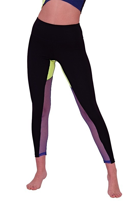 Black Neon Stripe Leggings