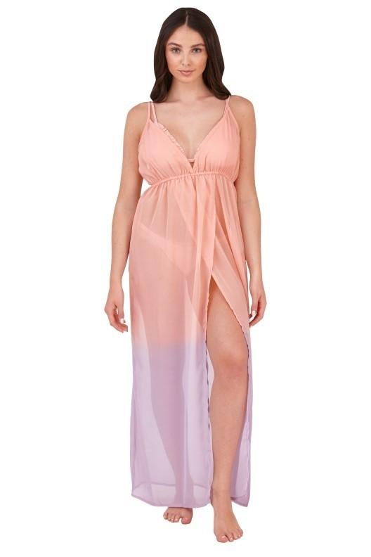 Boutique Pink & Purple Ombre Beach Maxi Dress