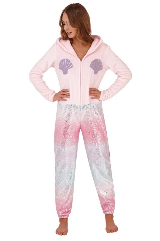 Loungeable Pink Mermaid Hooded Onesie