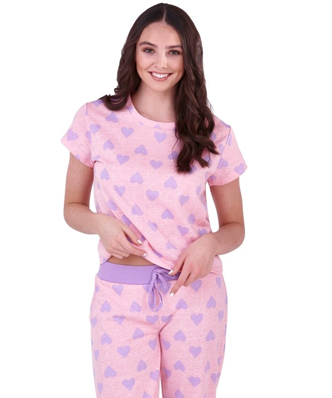 Loungeable Heart Print Pyjama Set