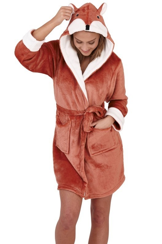 Ladies 3D Novelty Russet Fox Robe