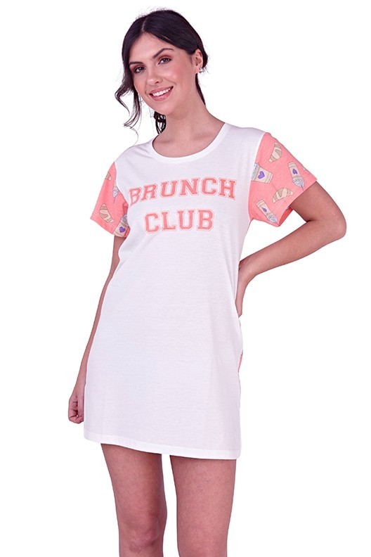 Loungeable Brunch Club Slogan Nightshirt