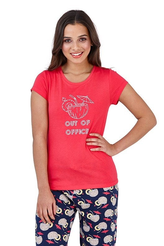 Loungeable Out of Office Slogan Pyjama Set