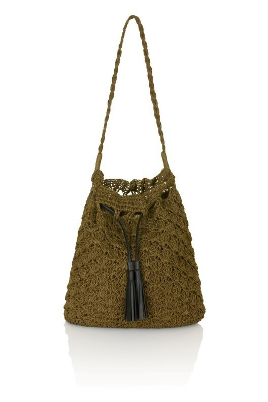 Brown Slouch Shoulder Bag With Tassel