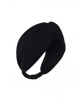 Black Chiffon Headband-Black-One Size