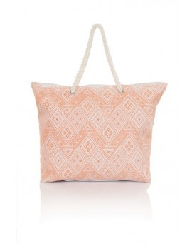 Pink Diamond Print Tote Bag