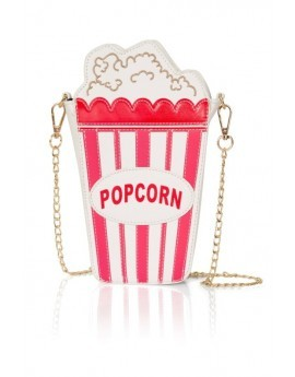 Novelty 3D Red & White Popcorn Bag