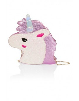 Novelty 3D White & Metallic Pink Unicorn Bag