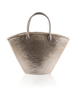 Gold Sequinned Basket Bag