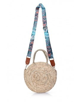 Large Round Straw Bag