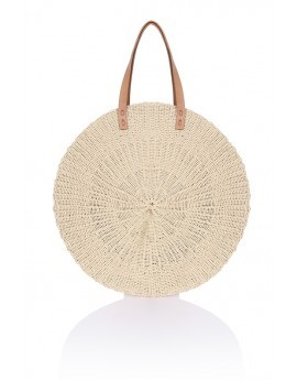 Extra Large Round Straw Bag
