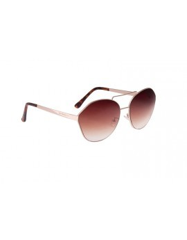 Gold Semi Hexagon Aviator Sunglasses