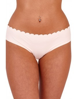 Pink Scallop Laser Cut Briefs