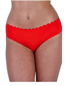 Red Scallop Laser Cut Briefs