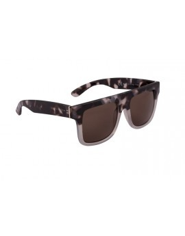 Brown & White Ombre Tortoiseshell Square Frame Retro Sunglasses