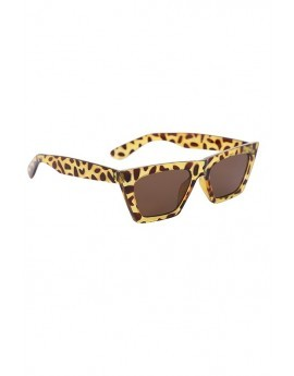 Brown Angular Tortoise Shell Sunglasses