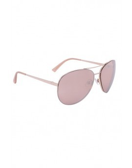 Rose Gold Hexagonal Aviator Sunglasses