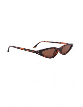 Tortoiseshell Slim Cat Eye Sunglasses