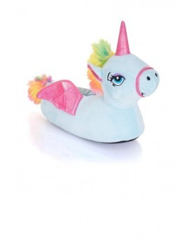 Novelty Blue Unicorn 3D Slippers